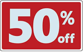 BIG SALE 50% OFF